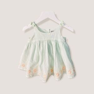 Baby Gap Girls 6-12 Month Floral Embroidered Dress